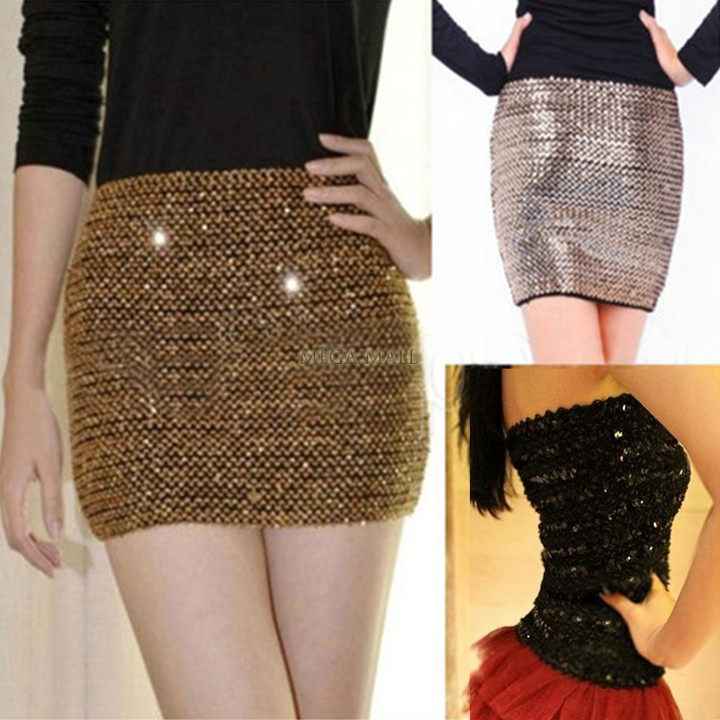 Aliexpress.com : Buy Girl Party Glitter Bodycon Bandage Mini Skirt ...