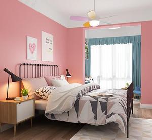 Image 5 - Màu hồng khiêu dâm bố trí phòng dán tường trang trí ký túc xá hình nền màu hồng tự dính phòng ngủ ấm cô gái dán hình nền