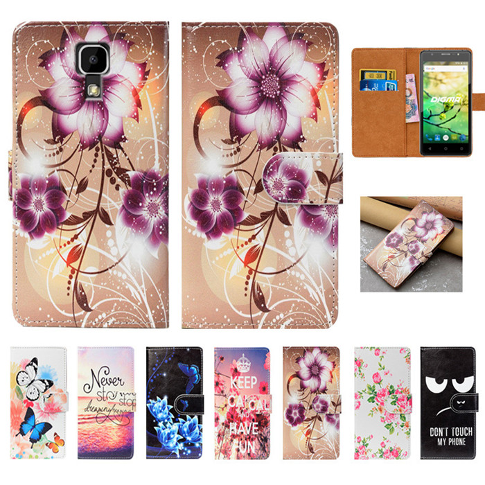 For Digma VOX G500 3G Case High Quality Pu Leather 5.0 Flip Wallet Case Back Cover Book Case For Digma VOX G500 3G Case