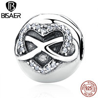 925 Sterling Silver Infinity Heart Clip Stopper Charms Beads Fit Original Pandora Bracelet DIY Fine Jewelry