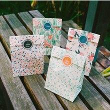 4PCS/LOT Fresh Dance Flower Paper Bag Gift Envelopes