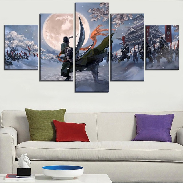 HD Printed Wall Art Painting On Canvas 5 Piece One Piece Roronoa Zoro Modular Picture Home Decor Living Room Anime Poster Frames