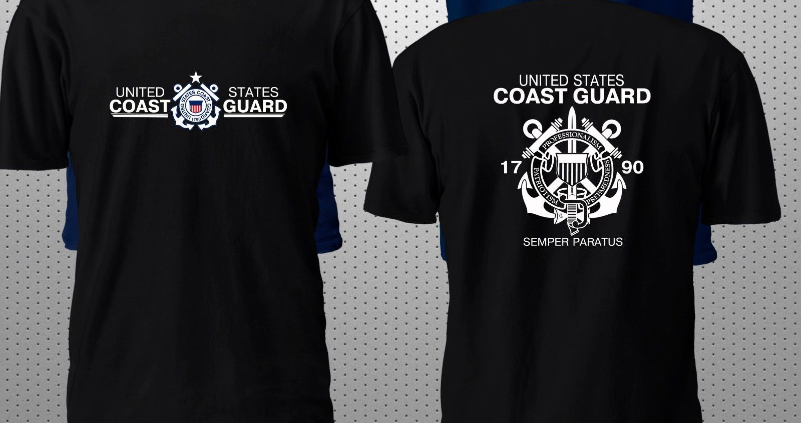 Men/'s t-shirt US Coast Guard t-shirt for men navy blue USCG design tee shirt