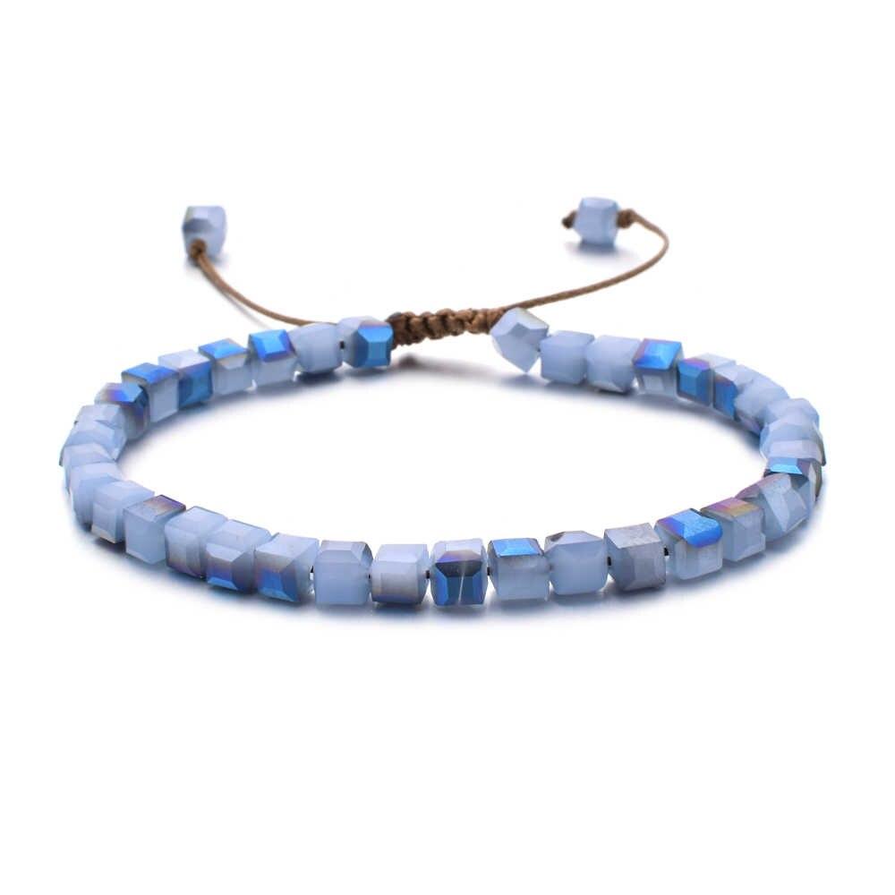 Zmzy moda colorido boêmio grânulos cristal pulseira charme do vintage pulseiras feminino étnico tibet pedra de vidro festa de casamento presente
