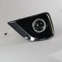 Для Toyota Reiz Mark X 2010-2012 COB Angel Eyes DRL Желтый Световой сигнал H11 Галоген/E13 Ксенон Противотуманные Фары с Проектором объектив