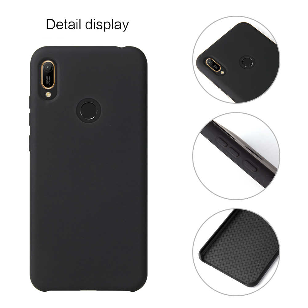 Huawei Y5 Y6 Y7 Y9 Prime 2019 Soft Case Original Liquid Silicone Cover for Etui Huawei P Smart Z Y6 Y7 Pro 2019 Phone Case Capa