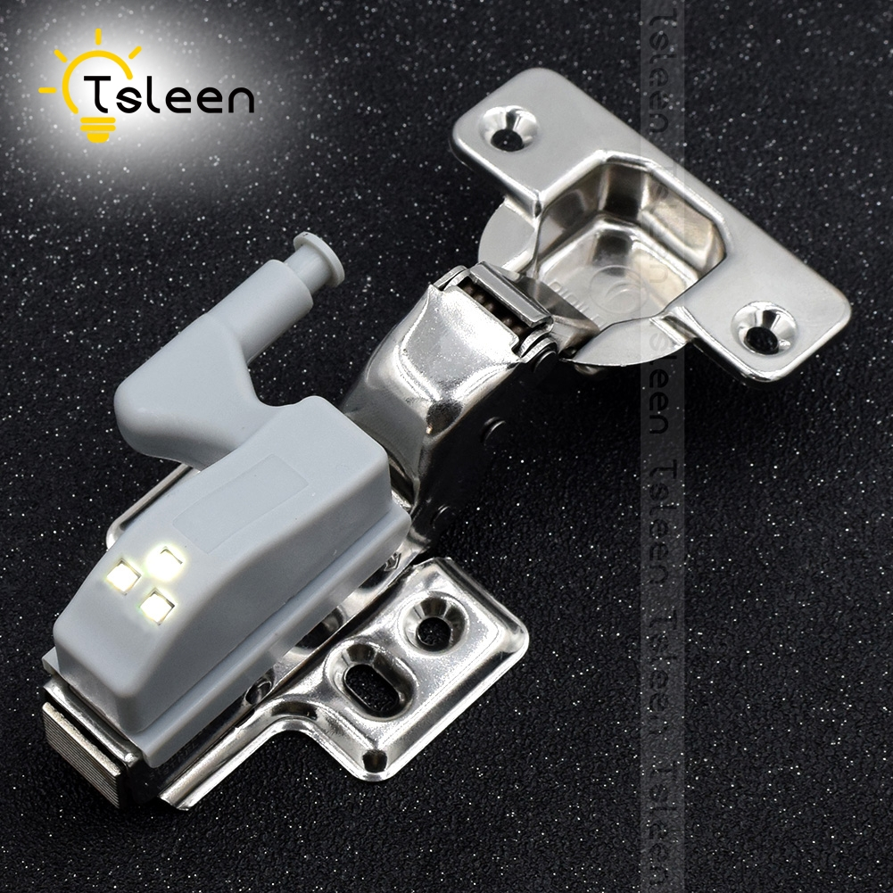 TSLEEN Free Shipping! 8PCS Universal LED Light Cabinet Cupboard Hinge Wardrobe System Modern Home Kitchen Lamp White Luminaria