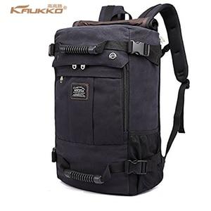 KAUKKO 2017 High capacity Laptop School Large Capacity Men's Backpack Canvas Weekend Bags Multifunctional Travel Bags K1027