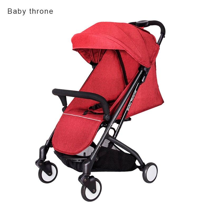 Super Light 5.8kg Baby klapvogn Portable kan sidde og ligge ned 7 Gratis gaver foldning baby bil baby trone baby vogn