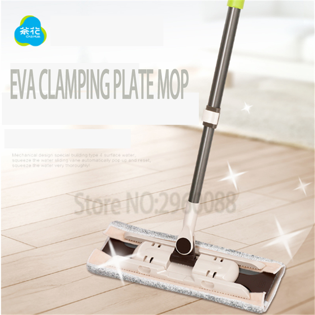 1pcs Free shipping 360degrees squeeze Mop rubbed Sticking EVA mop for floor telescopic handle home wood tiles cleaning the floor