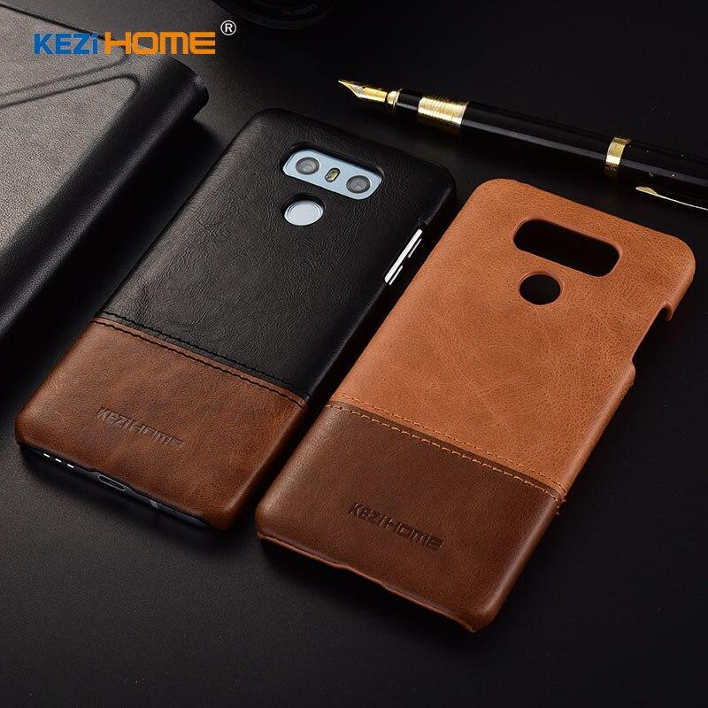 Kezihome Für Handy Fall LG G6 Abdeckung 5,7 ''Echtes leder + PC Rüstung Fall Für LG G6 Fall H870