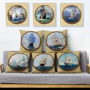 Vintage Clipper Ship Cushions