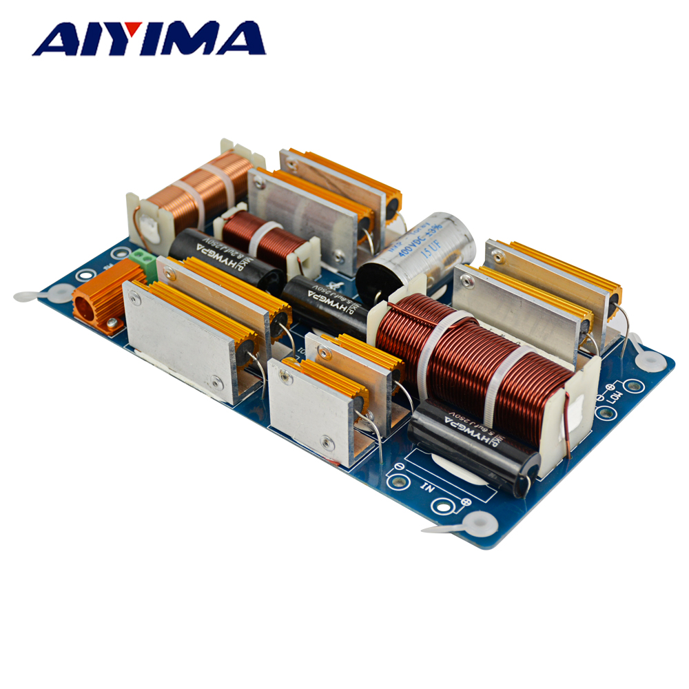 AIYIMA 1200W 2 Way Crossover for Speaker 2way Frequency Divider Board 1/2 Dividers Crossovers 2 way HIFI DIY Stage System 2pcs new 60w 2 way crossover filters two speaker system audio frequency divider