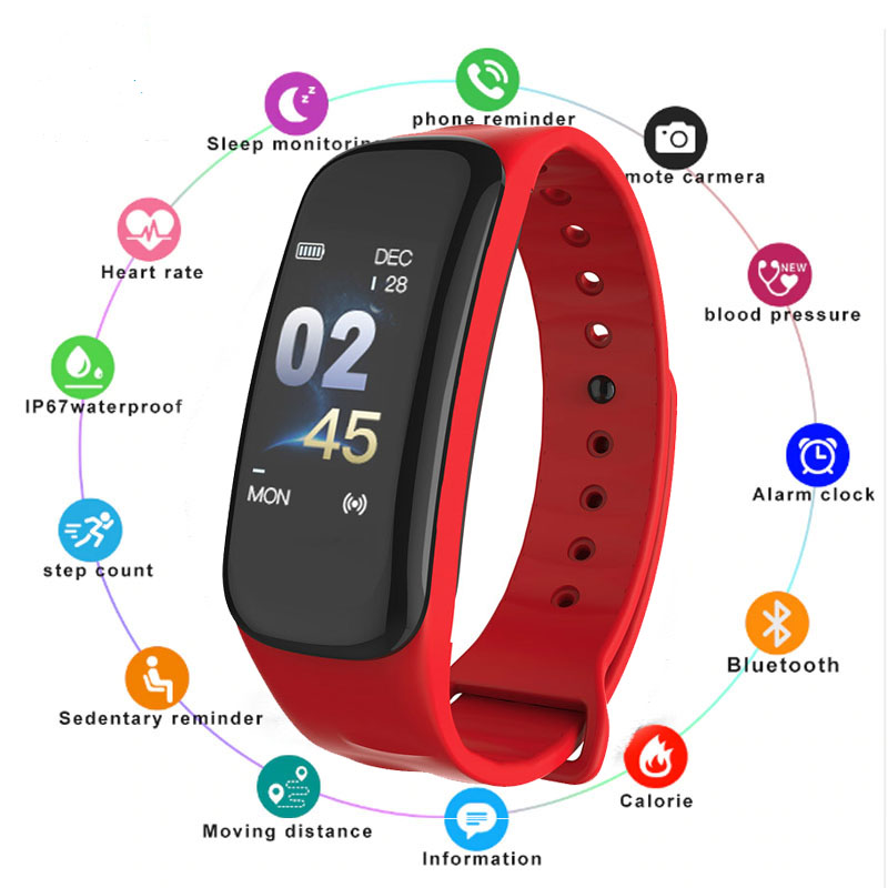 Image 5 - Smart Bracelet Color Screen Blood Pressure Fitness Tracker Heart Rate Monitor Smart Band Sport for Android IOS smart wristband-in Smart Wristbands from Consumer Electronics