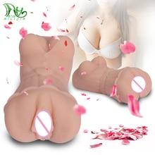 3D Silicone Male Masturbator Real Vagina Anus Portable Pussy Realistic Artificial Vagina Masturbation Cup Anal Sex toys for men