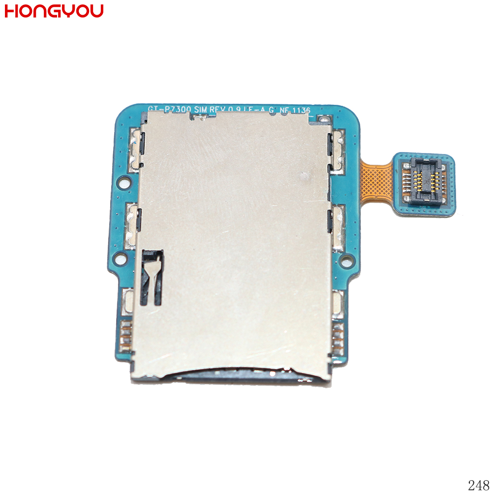 SIM Card Reader Tray Holder Slot Flex Cable For Samsung Galaxy Tab 8.9 P7300 P7310 GT-P7300