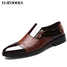Fashion Patent Leather Shoes Men Luxury Business Brand Wedding Slip-On Male Dress