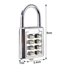 Padlock Metal Lock Digit Combination Password Secret Code for Gym Outdoor Locker Case Copper Stainless Steel High Quality(China)