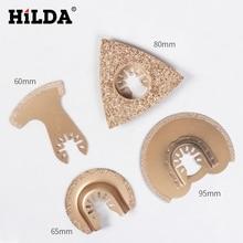 HILDA алмазное поворотное лезвие быстросъемный Осциллирующий Инструмент пилы аксессуары подходят для Multimaster электроинструментов