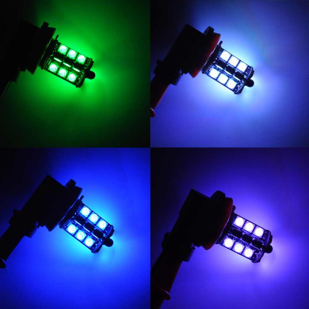 AutoEC 1 set RGB LED h11 h8 led 9005 9006 HB3 HB4 5050 LED 27 SMD Car Headlight Fog Light Head Lamp Bulb Remote Control #LJ71