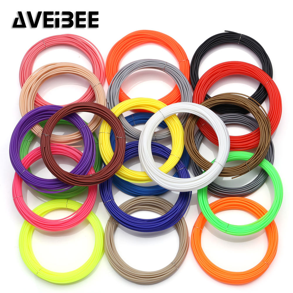 10 Meter ABS 1.75mm <font><b>Filament</b></font> Printing Materials Plastic For <font><b>3D</b></font> Printer <font><b>Pen</b></font> Accessories Black White Red Green Blue For Kids Gift image
