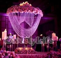 80cm Tall Wedding Crystal flower stand table centerpiece wedding decoration 6pcs/Lot