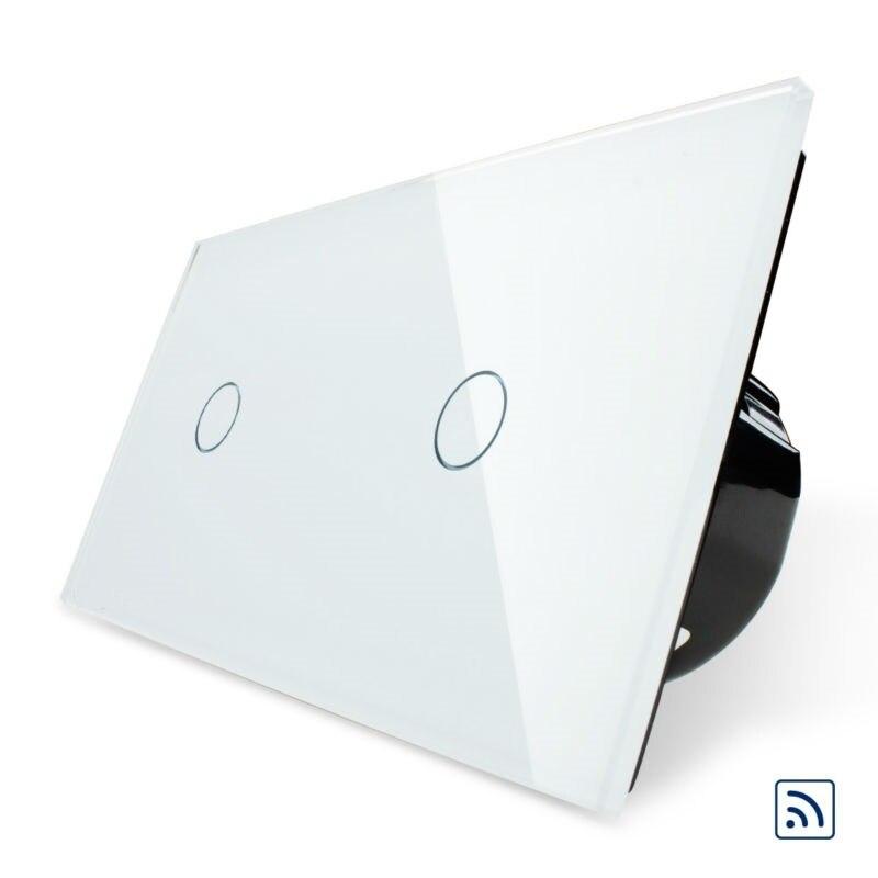 Norme européenne Livolo, interrupteur intelligent à panneau en verre cristal, interrupteur d'éclairage mural à télécommande et à commande tactile, Compatible Broadlink RM2 RM Pr