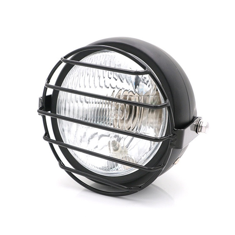 Image 2 - F 1016 Motorcycle accessories headlight net cover GN125 retro black shell round headlights CG125 refit retro headlights