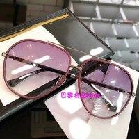 K04149 2019 роскошные взлетно посадочной полосы солнцезащитные очки для женщин для брендовая Дизайнерская обувь солнцезащитные очки для женщин
