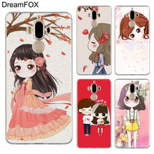 DREAMFOX M184 Cartoon Little Girl Soft TPU Silicone Cover Case For Huawei Mate 8 9 10 20 30 Lite Pro