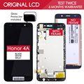 100% probado original de 5 pulgadas 1280x720 ips de la pantalla de huawei honor 4a scl-l01 y6 pantalla táctil lcd con marco scl-l21