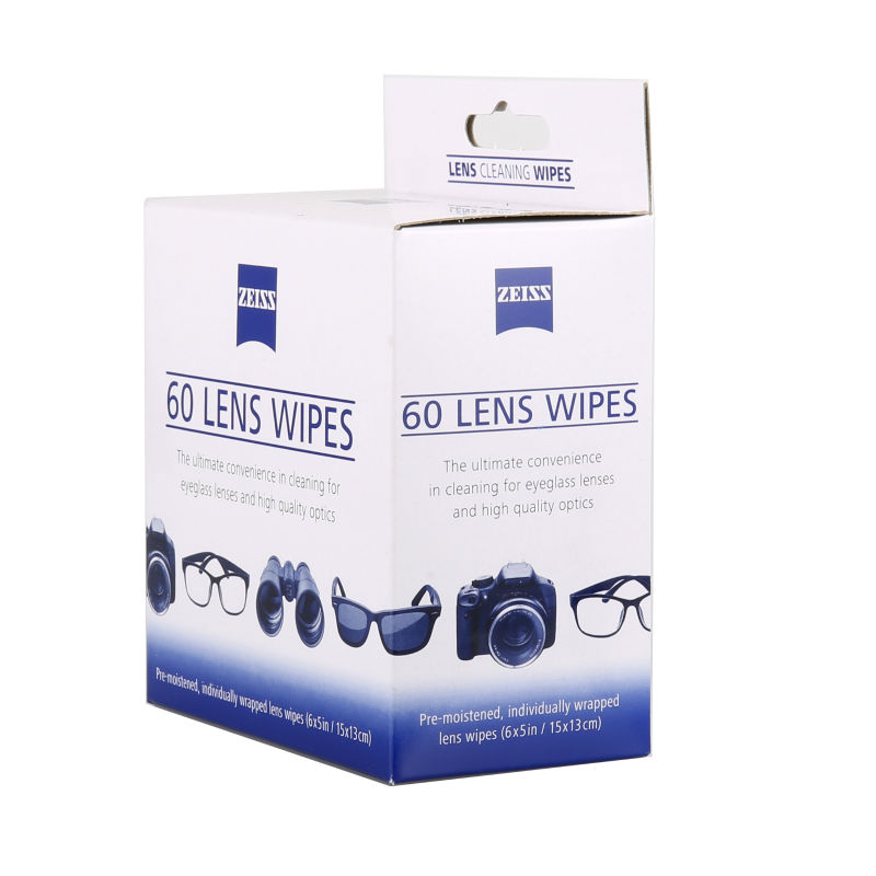 60pcs Zeiss Pre Moistened Lens Cleaning Wipe Glasses Cloth