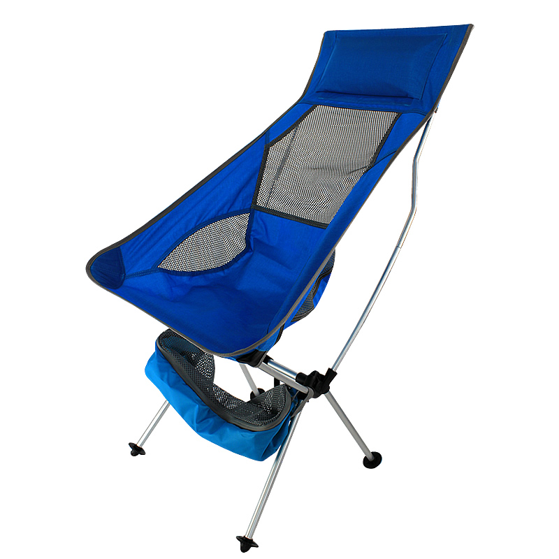 2019 New Outdoor Ultralight Portable Folding Blue Chairs With Carry Bag Heavy Duty 360lbs Folding Chairs Beach Chairs