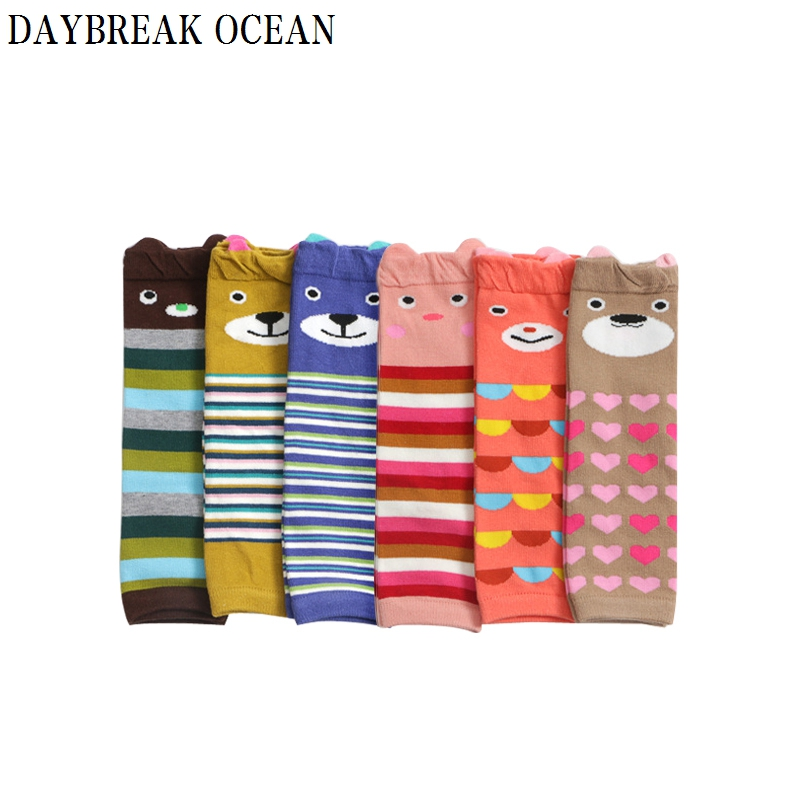 New Cartoon Animal Toddler Kids Knee Protector Soft Cotton Crawling Boy Girl Baby Kneepad Leg Warmers Well Knee Pads For Child