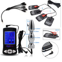 Electric Shock Kit Massage Pad Anal Butt Plug Speculum Electro Sex Medical Themed Toys Electro Sex Toys For Men Women With Cable