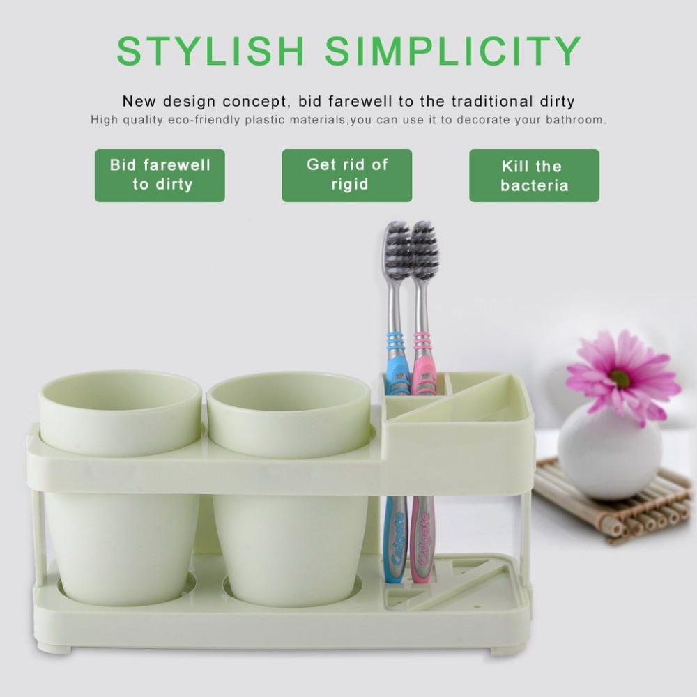Elegant Beautiful Eco-friendly Plastic Bathroom Accessories Bathroom Supplies Wash Set Toothpaste Tumbler Toothbrush Holder ...