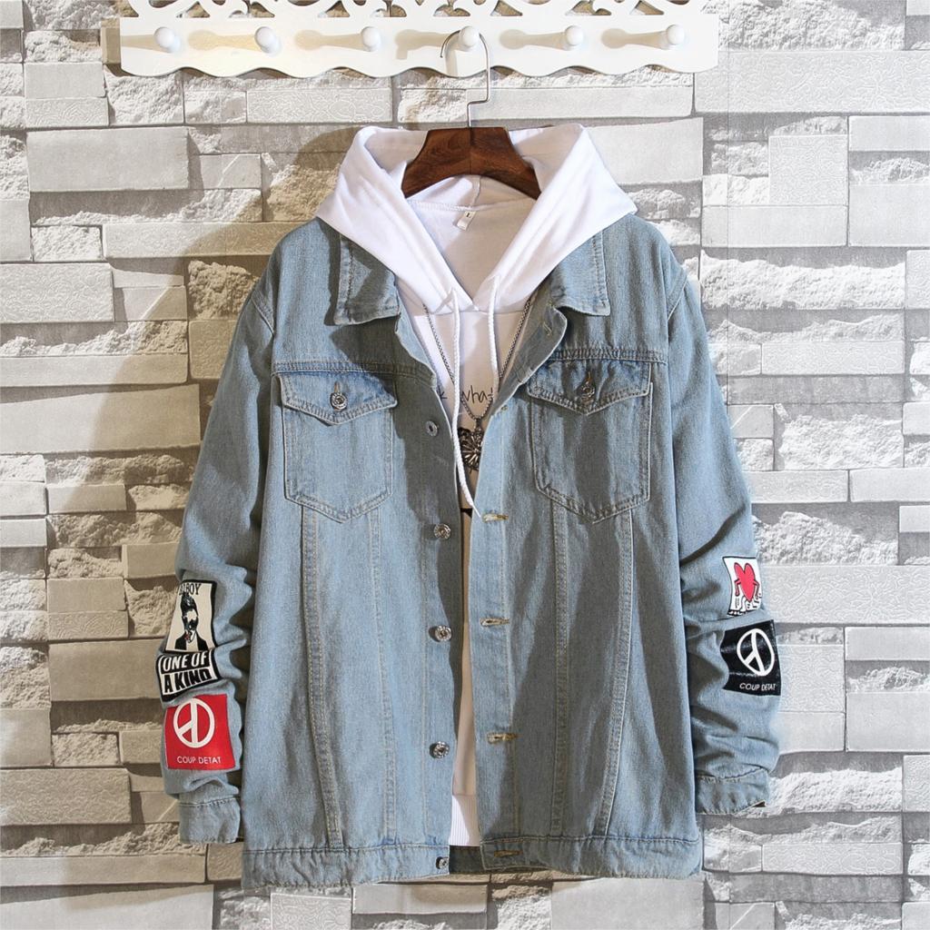 Hot Sale Privathinker 2018 Ins Men Denim Jackets Hiphop Print Jean