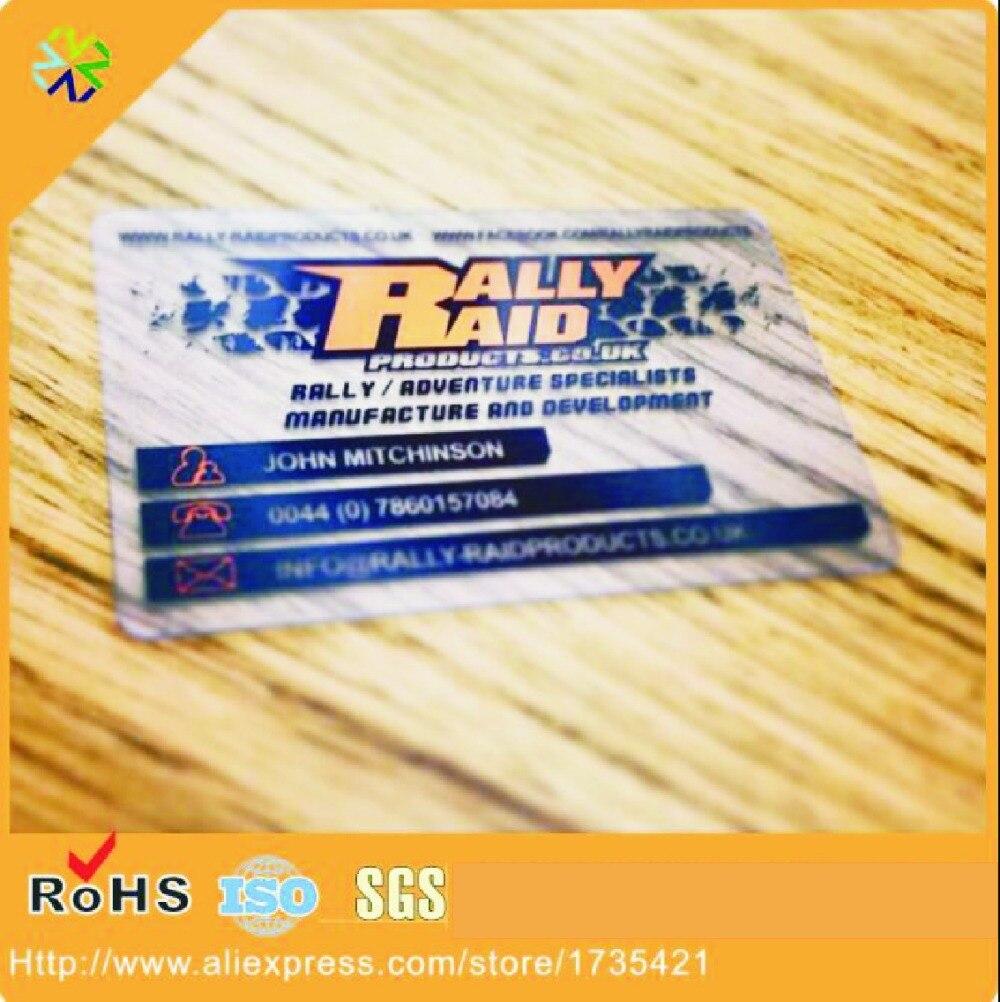 (200pcs/lot) Hight quality transparent plastic pvc business card inkjet printable PVC ID card