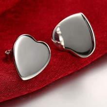 Jewelry Women 925-Sterling-Silver Earring Small Fashion Heart Gifts Romantic Wedding-Party