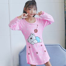 Girls Princess Nightgowns Spring and autumn Long Sleeve Nightdress kids Sleepwear Children Girl Nightgown 2018 new style