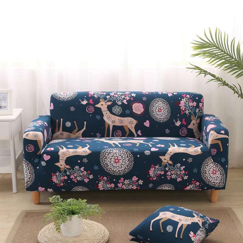 1//2//3//4 Seater Elastic Slipcovers Sofa Case Non-slip Protector Soft Couch Cover