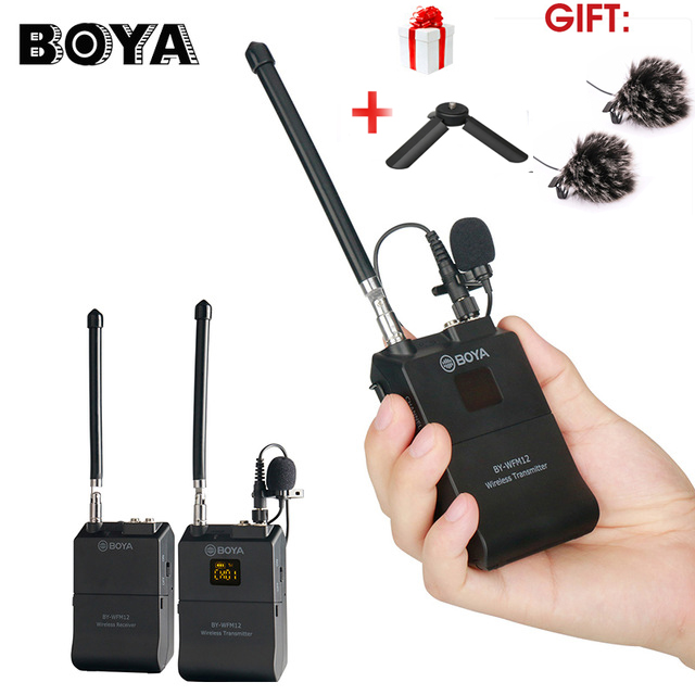 BOYA BY WFM12 Professional VHF Wireless Microphone System for iPhone Canon DSLR Camcorder Audio Recorder PK