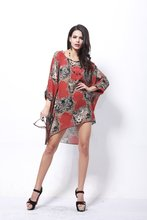 Tropical Casual Brand Chiffon Summer Dress Print Quality Fashion Summer Style Vestidos De Festa Women Dress Femininas