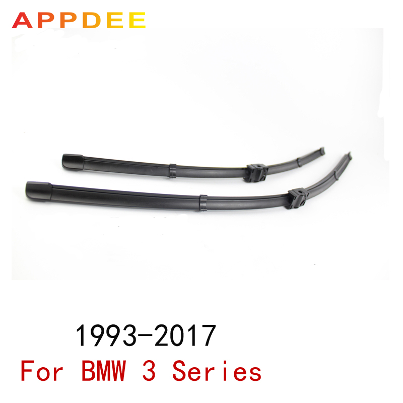 APPDEE Front Wiper Blades For BMW 3 Series E36 E46 E90 E91 E92 E93 F30 F31 F34 1993-2017 Car Windscreen Rubber цена 2017
