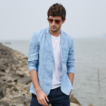 Casual Cotton Linen Big Size Male Blazers Elegant Single Breasted High Quality Men Tops Outwear Autumn Spring 2019 Ds503