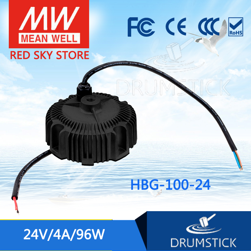 MEAN WELL HBG-100-24 24V 4A meanwell HBG-100 24V 96W Single Output LED Driver Power Supply [Real1] [cheneng]mean well original plc 100 24 24v 4a meanwell plc 100 24v 96w single output switching power supply