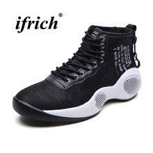 b01c976208a Man Basketball Shoes Black Red High Top Sneakers for Men Spring Autumn Basketball  Boots Big Size 39-46 Damping Training Shoes