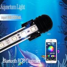 99CM süslemeleri balık tankı ışık Led akvaryum Led aydınlatma armatürleri deniz lamba ışığı akvaryumda Led lambalar denetleyici