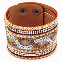 Knitted Leather Rattan Bracelets & Bangles