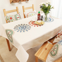 Tablecloth cotton and linen simple modern living room geometric pattern table cloth rectangular